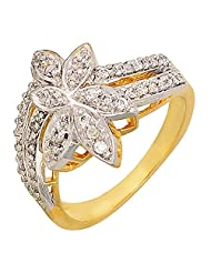 Kimatra American Diamonds Gold Alloy Ring For Women