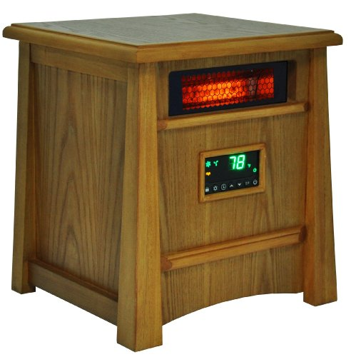 Lifesmart Corp Lifelux Series Ultimate 8 Element Extra Large Room Infrared Deluxe Wood Cabinet & Remote (Life Infrared Heater compare prices)