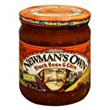 Newman's Own Black Bean and Corn Salsa, 16-Ounce (Pack of 6)