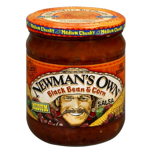 Newman's Own Black Bean and Corn Salsa, 16-Ounce (Pack of 6) (Black Bean And Corn Salsa compare prices)