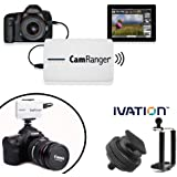 CamRanger Wi-Fi Dongle Wireless Camera Remote Controller For Canon & Nikon DSLRs From iOS, Android, Mac & PC or Windows Computer, iPad, iPhone 5, 5s, 5c, 6, 6 Plus, iPod Touch and a FREE Hot Shoe Mount With Tripod Adapter
