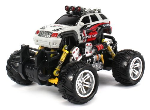 Graffiti Jeep Grand Cherokee Electric Rc Off Road Monster Truck 1:18 Scale 4 Wheel Drive Rtr, Working Hinged Spring...
