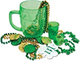 St. Patrick'S Party In A Mug - 16 Ct [30 Pieces] *** Product Description: Here'S A Mug That Contains All The St. Patrick'S Party Essentials You Need. It Includes A Shot Glass, Beads, 6 Plastic Coins And Die, All Packaged In A Mug. 16 Pieces Per P ***
