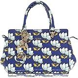 GUESS Malena Satchel Bag, Cobalt Multi