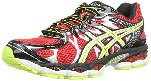 Asics Gel-Nimbus 16, Scarpe sportive, Uomo, Rosso (Chinese Red/Flash Yellow/Onyx 2307), 46.5