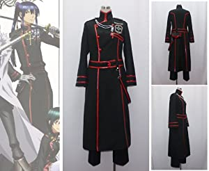 D Gray-man Yu Kanda New Black Cosplay Costume
