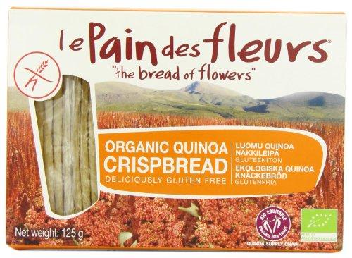Le Pain Des Fleurs Organic Quinoa Crispbread 125 g (Pack of 6)