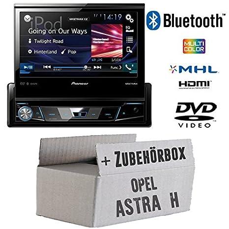 OPEL ASTRA H Noir-Pioneer avh-x2600bt X7800bt-1DIN de 7pouces USB Bluetooth DVD-Autoradio-Kit de montage