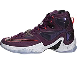 Nike Men\'s Lebron XIII Mulberry/Blk/Pr Pltnm/Vvd Prpl Basketball Shoe 13 Men US