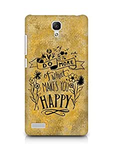 AMEZ do more of what makes you happy Back Cover For Xiaomi Redmi Note 4G