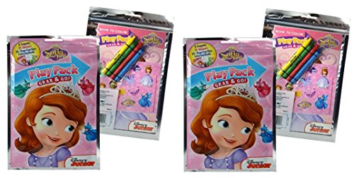 Sofia the First Grab and Go Play Pack Coloring and Stickers Set x 2 - 1