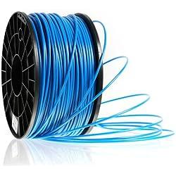 Kaisertech Filament für 3D Drucker 1kg PLA / ABS 1.75mm / 3mm - Premium Qualität & verschiedene Farben (PLA 1.75mm, Blau)
