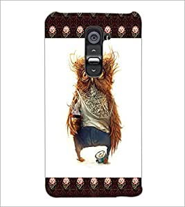 PrintDhaba Funny Owl D-4503 Back Case Cover for LG G2 (Multi-Coloured)