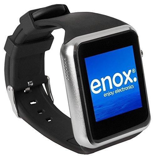 Echt etnox SWP22 argento Smart Watch vigilanza del telefono cellulare Smartphone carte SIM inserto 2,54 cm COLORI-display fitness-caratteristiche orologio telefono cellulare Bluetooth per la connessione con Android e iOS dispositivi