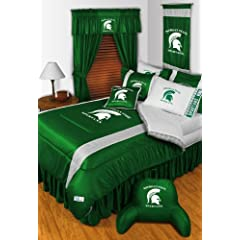 Michigan State Spartans QUEEN Size 15 Pc Bedding Set (Comforter, Sheet Set, 2 Pillow... by Sports Coverage