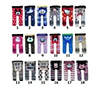 BUY ONE GET ONE FREE baby toddler boy girl unisex leggings tights trousers pants cotton rich clothes (80 6-12 months, design 9)