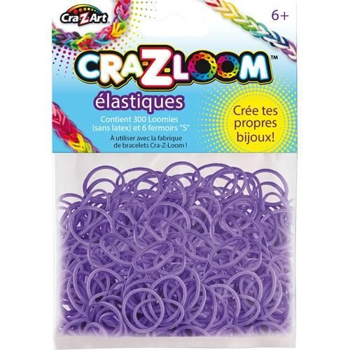 The Cra-Z-Art Shimmer 'N Sparkle Cra-Z-Loom Fashion Colors Rubber Bands - Purple