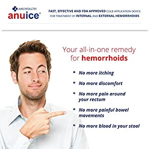 #1 Cold Therapy HEMORRHOID TREATMENT, Effective, Fast, Safe, FDA Approved, 100% Manufacturer's MONEY BACK GUARANTEE, Doctor Recommended for Internal, External, Thrombosed Hemorrhoids & Fissures