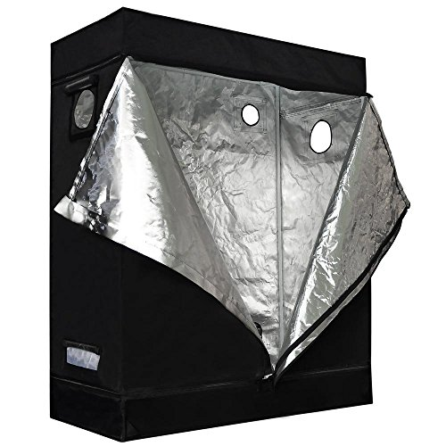 Approx-4x2x5-Ft-Interior-Waterproof-Diamond-Mylar-Reflective-Hydroponics-Grow-Tent-Cover-Cabinet-w-Metal-Construction-210D-Oxford-for-Outdoor-Plant-Flower-Growing-Tents