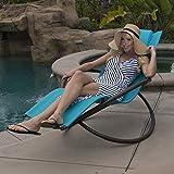 BELLEZZA Orbital Foldable Lounge Chair, Ocean Blue