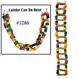 Bonka Bird Toys 1286 Huge Ladder Swing Bird Toy parrot cage toys cages macaw amazon cockatoo (14 Bars)