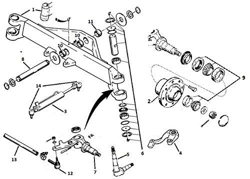d103156 front axle king pin kit fits case 480c 480d 480e 580c 580d 580e vehicles parts vehicle