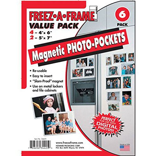 FREEZ-A-FRAME  34425 Magnetic Photo Picture Frames Set (Picture Fridge compare prices)