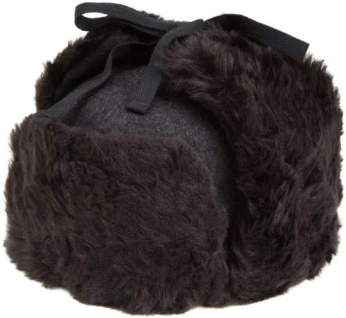 Kangol  Men's Wool Ushanka Hat,Black,Medium