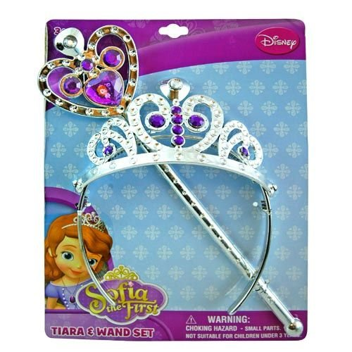 Disney Princess Sofia the First Tiara and Wand Set - Silver and Purple - 1