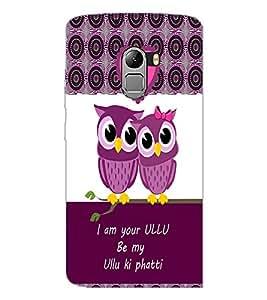 PrintDhaba Loving Owls D-3978 Back Case Cover for LENOVO K4 NOTE A7010 (Multi-Coloured)