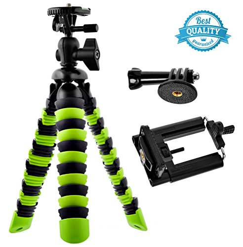 Bontend-Flexible-Tripod-with-Iphone-and-Smartphone-Holder-A-Light-Camera-Stand-for-DSLR-SLR-Free-Gopro-Mount