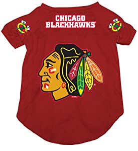 NHL Chicago Blackhawks Pet Jersey, Red, Medium