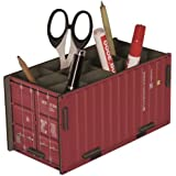 "Werkhaus - Stiftebox ""Container"" in Rot (CO1012)"
