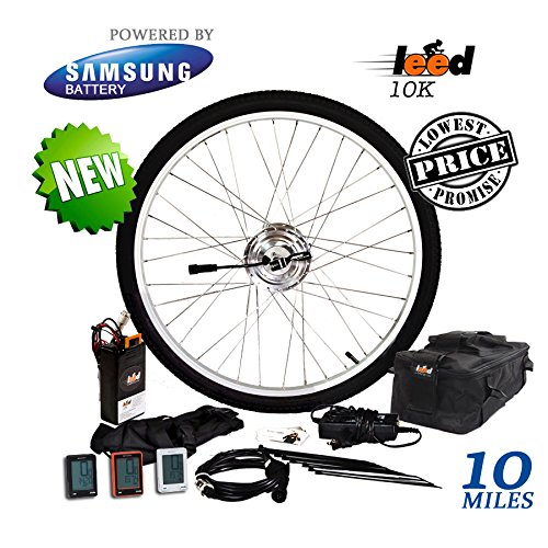 Electric-Bike-Conversion-Kit-Li-ion-52-Ah-Included-24V-250W-Front-Wheel