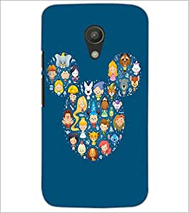 PrintDhaba Mickey Impression D-2394 Back Case Cover for MOTOROLA MOTO G2 (Multi-Coloured)