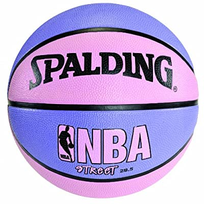 Spalding 73-132 Size 6 28.5 Inch Pink and Purple NBA Street Basketball Ball