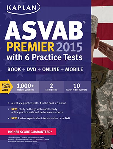 Kaplan ASVAB Premier 2015 with 6 Practice Tests: Book + DVD + Online + Mobile (Kaplan Test Prep) (Electronic Exchange Program compare prices)