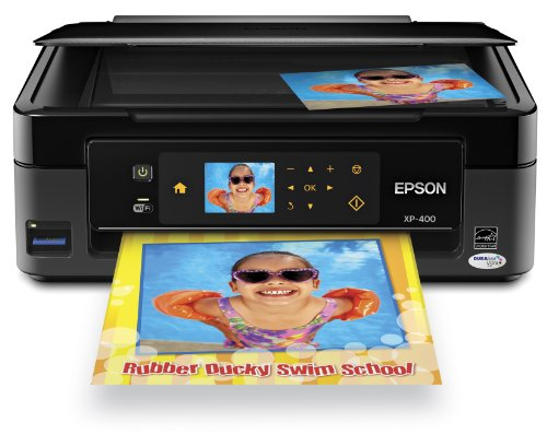 Epson Expression Home XP-400 Wireless All-in-One Color Inkjet Printer, Copier, Scanner.  Prints from Tablet/Smartphone. AirPrint Compatible (C11CC07201) (Epson Laser Color Printer compare prices)