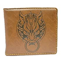 Final Fantasy.vii Wolf Logo Leather Wallet Cosplay Colletion New ( 1075157 )