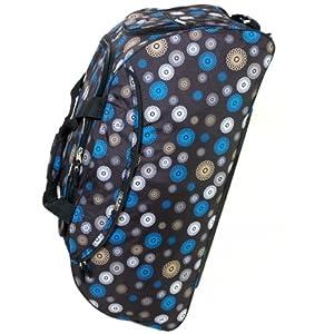 Extra Large 33 Inch Wheeled Holdall Bag (Spiral Black)