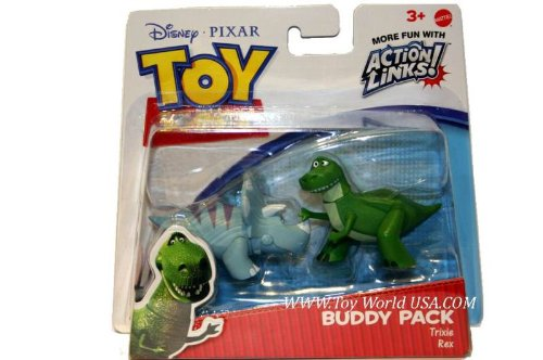 Toy Story 3 Buddy Pack - Rex & Trixie - Action Links Disney Pixar Fi