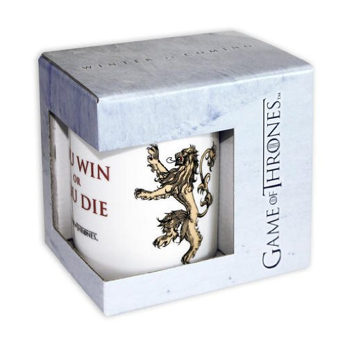 Game Of Thrones - White Ceramic Coffee Mug (You Win Or You Die)