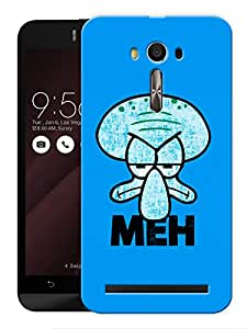 "Humor Gang Meh Grumpy Funny Cartoon Printed Designer Mobile Back Cover For ""Asus Zenfone Selfie"" (3D, Matte, Premium Quality Snap On Case)"