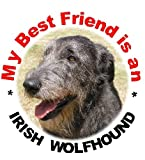 2 Irish Wolfhound Car Stickers My Best Friend