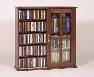 Wall Hanging Sliding Door Mission Multimedia Cabinet Walnut