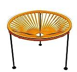 Innit Designs Zica Table, Orange Weave on Black Frame