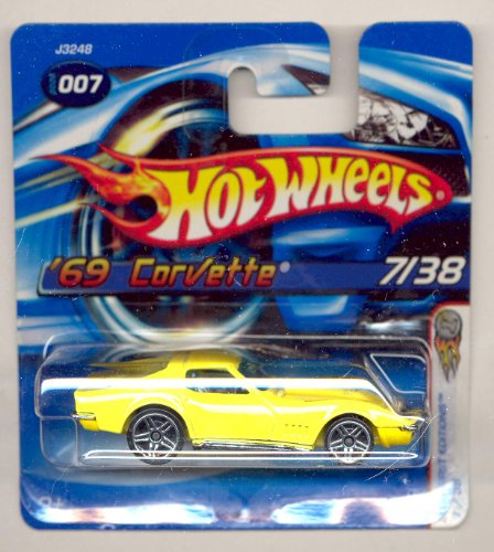 Hot Wheels 2006-007 First Editions 7/38 YELLOW '69 Corvette SHORT CARD 1:64 Scale - 1