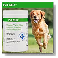 Pet MD - Canine Tabs Plus 365 Count - Advanced Multivitamins for Dogs - Vitamin and Mineral Nutritional Supplement - Liver Flavored Chewable Tablets