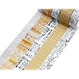 5 Rolls Vintage Collection Washi Tape Set by Wintertime Crafts, Decorative Masking Tape Gift Set for Scrapbooking and Junk Journals