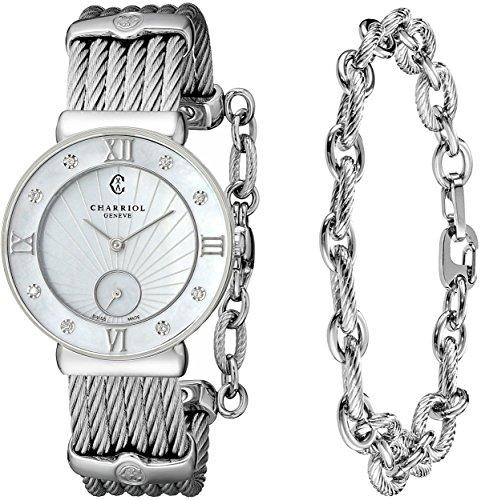 charriol-st-tropez-st30sd560008-30mm-silver-steel-bracelet-case-anti-reflective-sapphire-womens-watc